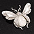 Large Enamel Bug Brooch (White) - view 8