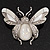 Large Enamel Bug Brooch (White) - view 4