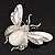 Large Enamel Bug Brooch (White) - view 7