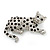 Swarovski Crystal Leopard Brooch (Silver Plated Finish) - view 5