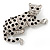 Swarovski Crystal Leopard Brooch (Silver Plated Finish) - view 2