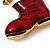 Christmas Stocking Brooch In Gold Plated Metal - 40mm L - view 6