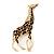 Gold Plated Enamel 'Giraffe' Brooch