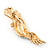Gold Plated Clear Austrian Crystal Parrot Bird Brooch - 50mm L - view 5