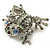 Swarovski Crystal 'Frog' Brooch In Rhodium Plated Metal (Light Green/ Grey) - view 4