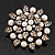 Bridal White Faux Pearl Floral Brooch In Antique Gold Plating - 5.5cm Diameter - view 1