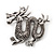 Silver Plated 'Dragon' Brooch - 4.3cm Length - view 2