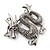 Silver Plated 'Dragon' Brooch - 4.3cm Length - view 4