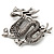 Silver Plated 'Dragon' Brooch - 4.3cm Length - view 5