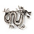 Silver Plated 'Dragon' Brooch - 4.3cm Length - view 6