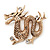 Gold Plated 'Dragon' Brooch - 4.3cm Length - view 2