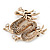 Gold Plated 'Dragon' Brooch - 4.3cm Length - view 4