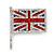 Swarovski Crystal Union Jack Flag Brooch In Silver Plating - 3.5cm Length