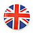 4pcs Union Jack Flag Lapel Pin Button Badge - 3cm Diameter - view 8