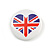 4pcs Union Jack Heart Lapel Pin Button Badge - 3cm Diameter - view 2