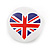 4pcs Union Jack Heart Lapel Pin Button Badge - 3cm Diameter - view 8