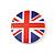 4pcs 'I Heart Love England' Lapel Pin Button Badge - 3cm Diameter - view 5