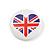 4pcs 'I Heart Love England' Lapel Pin Button Badge - 3cm Diameter - view 4