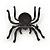 Large Swarovski Crystal 'Spider' Brooch In Black Metal - 6cm Length - view 3