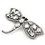 Gigantic Clear Glass Crystal 'Dragonfly' Brooch In Gun Metal - 11cm Length - view 10