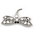 Gigantic Clear Glass Crystal 'Dragonfly' Brooch In Gun Metal - 11cm Length - view 8