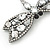 Gigantic Clear Glass Crystal 'Dragonfly' Brooch In Gun Metal - 11cm Length - view 5