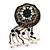 Hand-made Snakeskin Gem Embellished Dangle Brooch - 12cm length