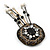 Hand-made Snakeskin Gem Embellished Dangle Brooch - 12cm length - view 6