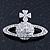 Rhodium Plated Swarovski Elements 'Sovereign's Orb' Brooch - 4cm Width - view 2