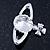 Rhodium Plated Swarovski Elements 'Sovereign's Orb' Brooch - 4cm Width - view 3