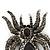 Large Black/ Dim Grey 'Spider' Brooch/ Hair Clip In Gun Metal Tone - 55mm Length - view 2