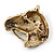 Burn Gold Diamante Horse Head Brooch - 30mm Across - view 3
