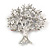 Multicoloured 'Tree Of Life' Brooch In Silver Tone Metal - 52mm Tall - view 4
