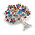 Multicoloured 'Tree Of Life' Brooch In Silver Tone Metal - 52mm Tall - view 3