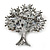 Multicoloured 'Tree Of Life' Brooch In Silver Tone Metal - 52mm Tall - view 9