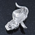 Christmas Crystal 'Snowman' Brooch In Rhodium Plating - 48mm Length - view 3