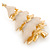 Gold Plated With Snow Effect 'Christmas Tree' Brooch - 6cm Length - view 4