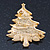 Gold Plated With Snow Effect 'Christmas Tree' Brooch - 6cm Length - view 5