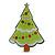 Light Green, Dark Green Red Swarovski Crystal 'Christmas Tree' Acrylic Brooch - 55mm Length