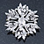 Stunning Navy Blue, Clear Austrian Crystal Corsage Brooch In Rhodium Plating - 60mm Length - view 5
