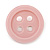 Funky Baby Pink Acrylic 'Button' Brooch - 35mm Diameter