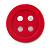 Funky Magenta Acrylic 'Button' Brooch - 35mm Diameter