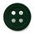 Funky Dark Green Acrylic 'Button' Brooch - 35mm Diameter