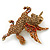 Stunning Austrian Crystal 'Unicorn' Brooch In Antique Gold Tone - 50mm Length - view 3