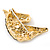 Austrian Crystal Horse Head Brooch/ Pendant In Gold Plating - 35mm Across - view 4