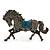 Hematite Coloured Swarovski Crystal Horse Brooch In Gun Metal Tone - 70mm Across - view 2