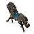 Hematite Coloured Swarovski Crystal Horse Brooch In Gun Metal Tone - 70mm Across - view 4