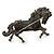 Hematite Coloured Swarovski Crystal Horse Brooch In Gun Metal Tone - 70mm Across - view 5