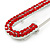 Classic Large Red Austrian Crystal Safety Pin Brooch In Rhodium Plating - 75mm Length - view 3