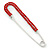Classic Large Red Austrian Crystal Safety Pin Brooch In Rhodium Plating - 75mm Length